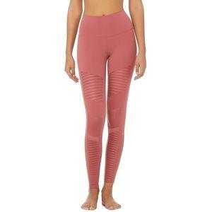 ALO (like new!) motto leggings dark mauve pink
